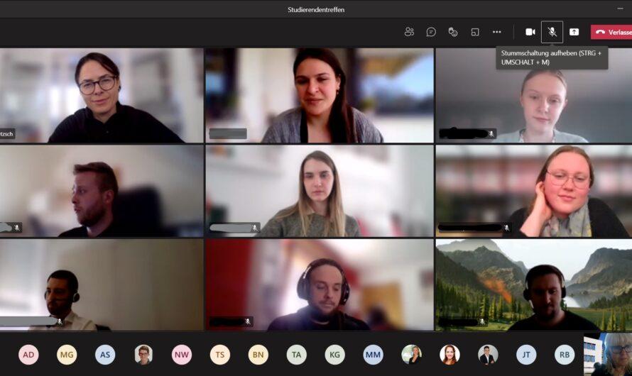 Information, Austausch und Coaching beim digitalen Studierendentreffen